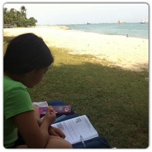 Jodee studying